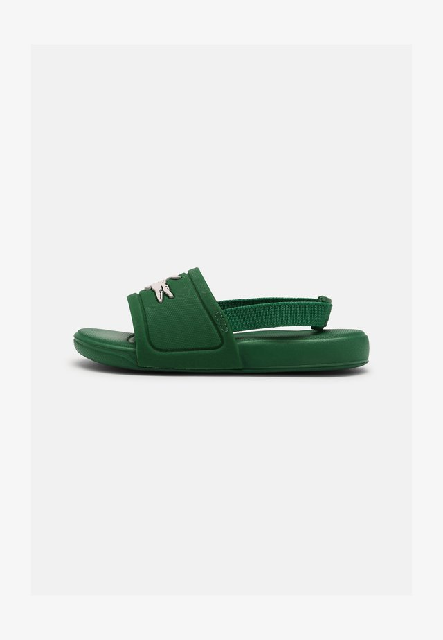 SLIDE UNISEX - Pool slides - green/white