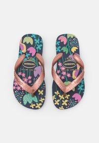 Havaianas - FLORES - Pool shoes - black blue/gold - 0