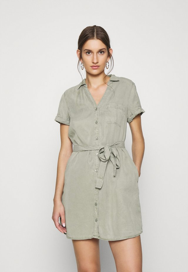 SLEEVELESS BOILERSUIT  - Korte jurk - olive