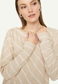 comma casual identity - Long sleeved top - light sand stripes - 3