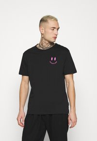 YOURTURN - Print T-shirt - black