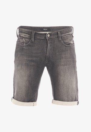 BRAD - Denim shorts - black