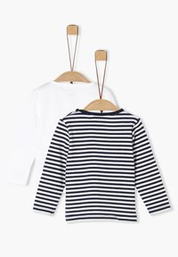s.Oliver - 2 PACK  - Long sleeved top - white/navy stripes - 1