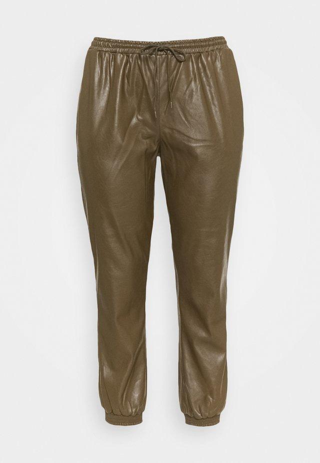 ELASTICATED CUFF - Pantalon classique - khaki