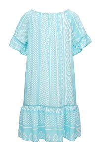 Triangle - Day dress - turquoise aop - 1