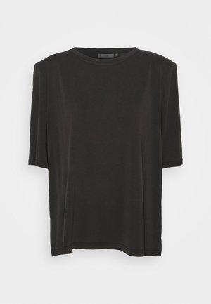 HOLINE SHORT SLEEVED - Jednoduché triko - black
