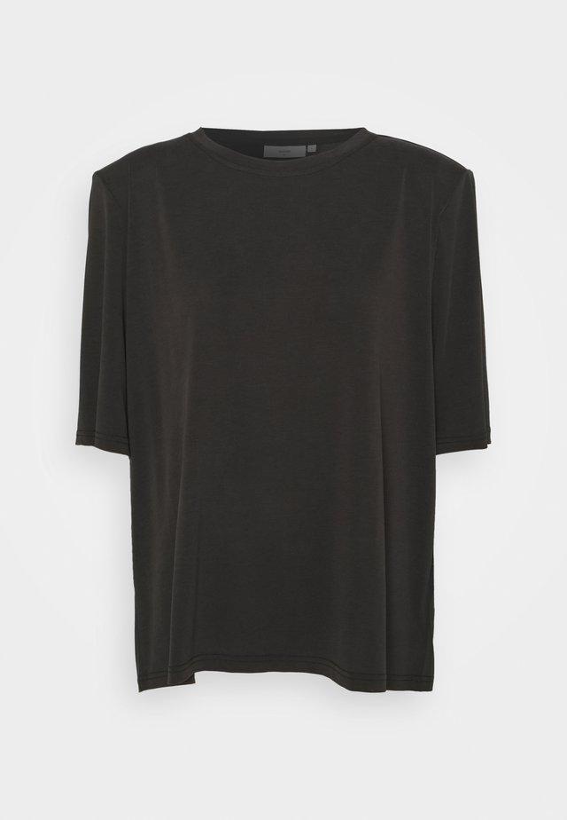 HOLINE SHORT SLEEVED - Basic T-shirt - black