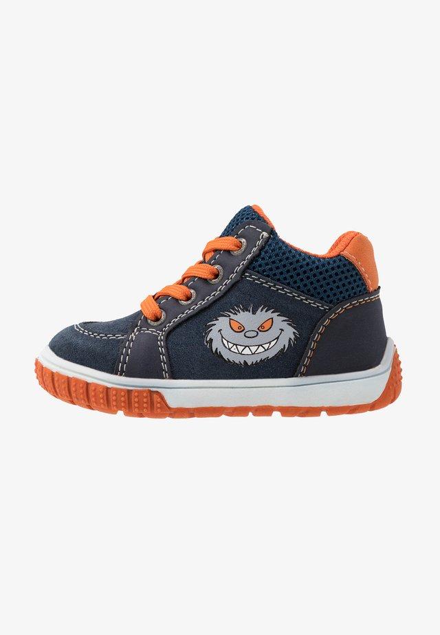 BEO - Baskets montantes - navy/orange