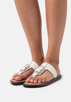 ANSLEY THONG - T-bar sandals - antique white