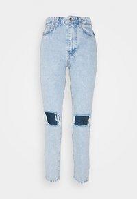 DAGNY HIGHWAIST - Jeans Tapered Fit - sky blue destroy
