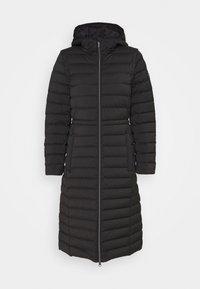 LONG STRETCH PACKABLE - Down coat - black