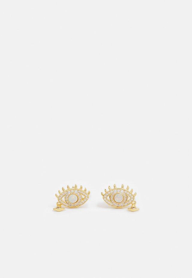 RAHMONA EARRINGS - Ohrringe - gold-coloured/white