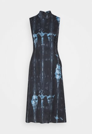 HIGH NECK SLIP MIDI DRESS IN TIE DYE - Sukienka letnia - navy
