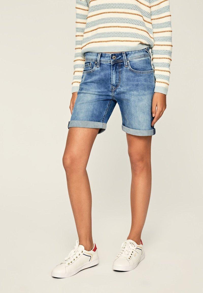 Pepe Jeans - Szorty jeansowe - blue denim