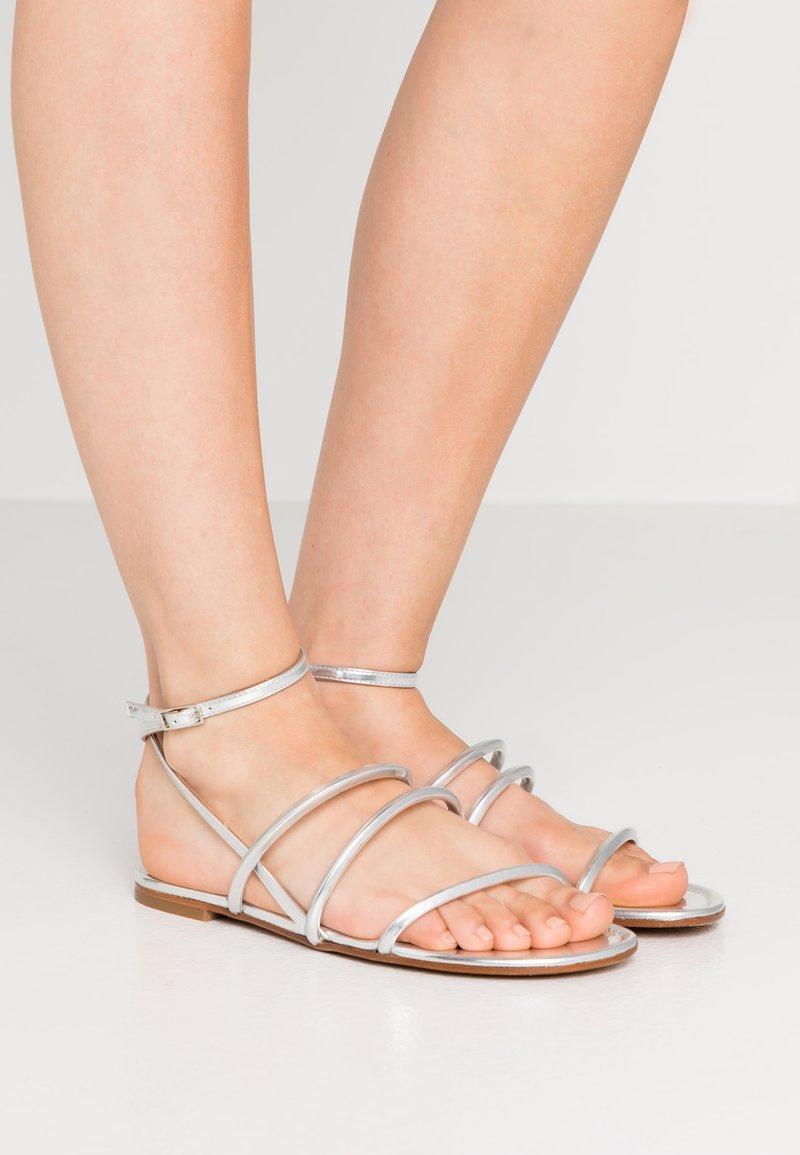 Pura Lopez - Sandals - mirror argento