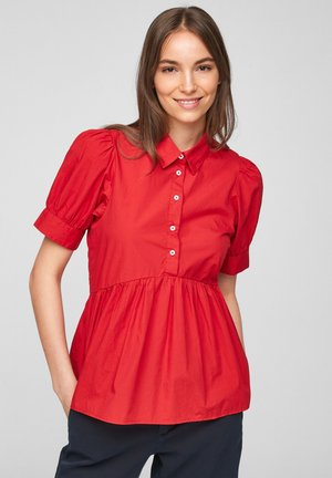 MIT VOLANT - Blouse - red
