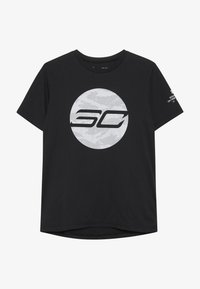 Under Armour - LOGO TEE - Camiseta estampada - black/mod gray/halo gray - 2