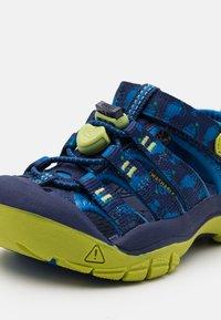Keen - NEWPORT H2 UNISEX - Walking sandals - blue depths/chartreuse - 5