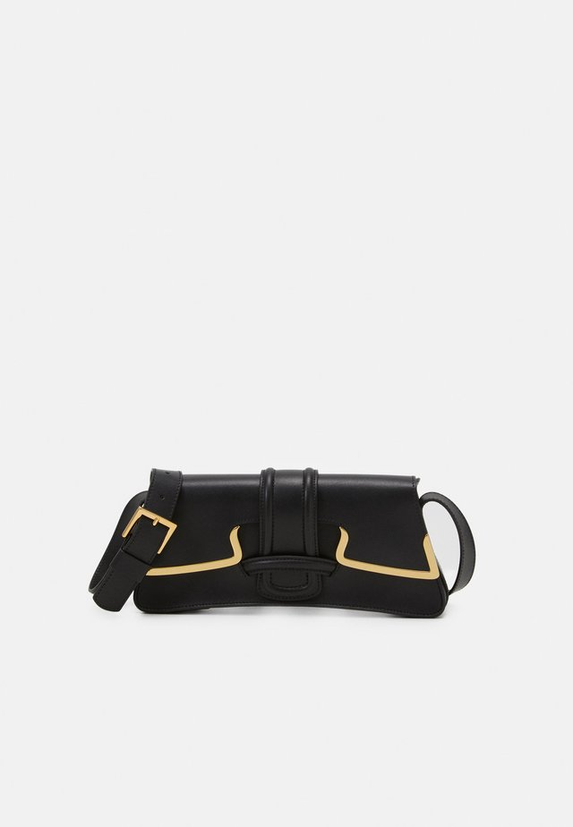 SHOULDER BAG SMALL BUCKLE - Handtas - black