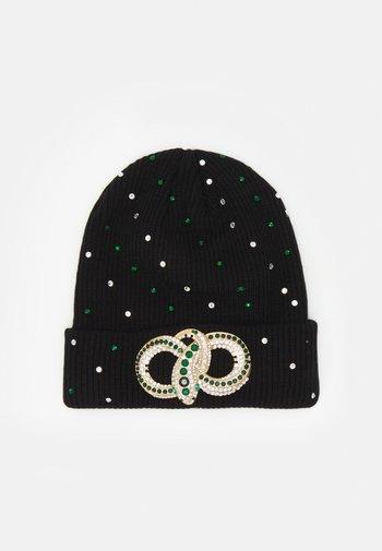 QIAVIA - Lue - black/emerald green/gold-coloured combo