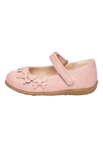 WHITE BUTTERFLY MARY JANE SHOES (YOUNGER) - Baleríny s páskem - pink