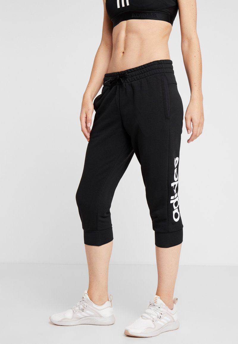 adidas Performance - 3/4 sports trousers - black/white