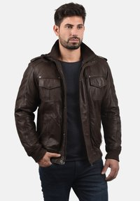 Solid - CAMASH - Leather jacket - brown - 0