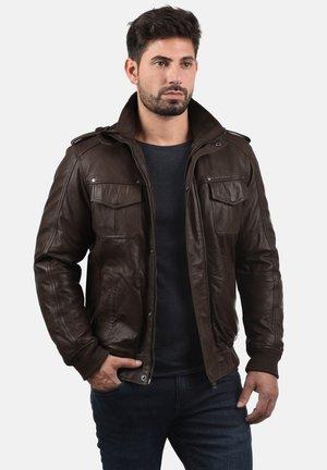 CAMASH - Leather jacket - brown