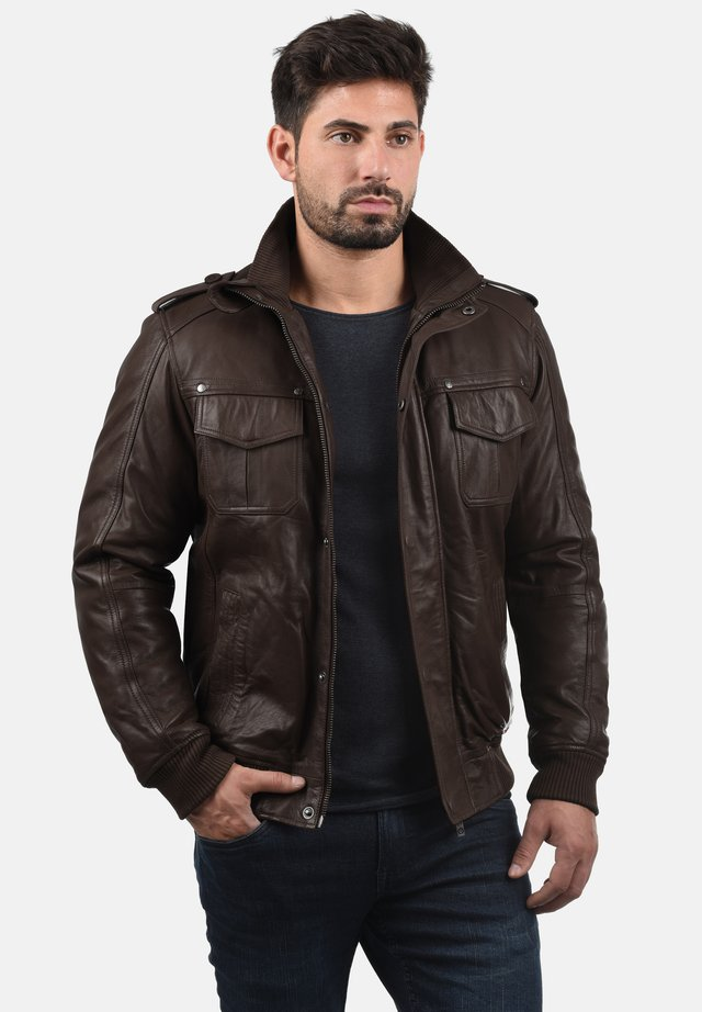 CAMASH - Leather jacket - brown