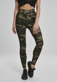 Urban Classics - Leggings - Trousers - wood camo - 0