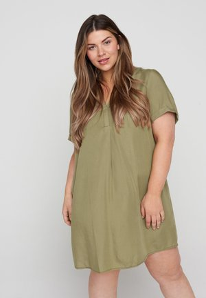ECATRINE  - Denní šaty - dusky green