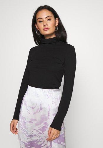 PCSIRENE ROLLNECK - Maglietta a manica lunga - black