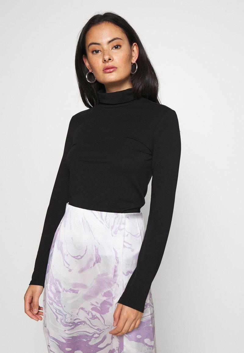 Pieces - PCSIRENE ROLLNECK - Long sleeved top - black
