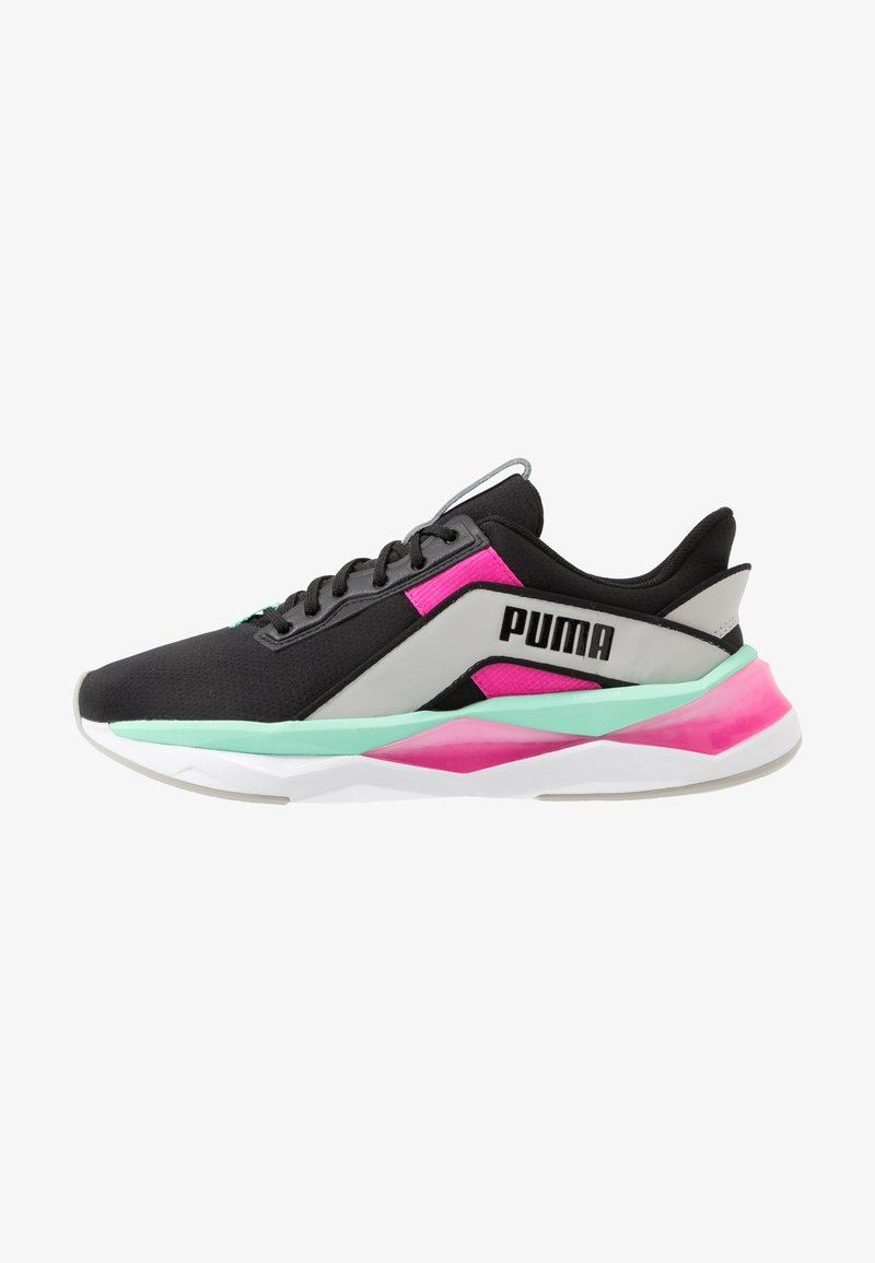 Puma - LQDCELL SHATTER XT GEO - Sports shoes - black/gray violet/luminous pink