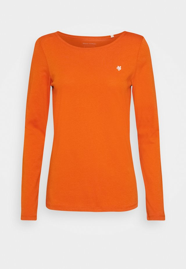 Long sleeved top - pumpkin orange