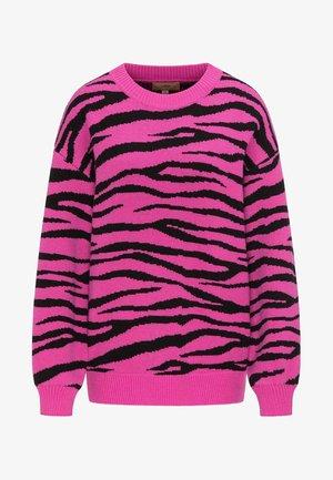Pullover - pink/black
