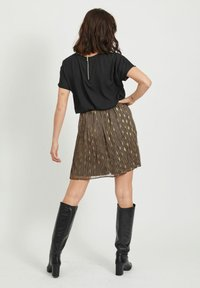 Vila - A-line skirt - black - 2