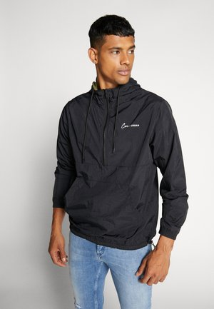 JCOTYLER HALF ZIP JACKET - Summer jacket - black