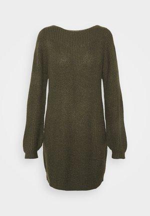 JDYWHITNEY MEGAN BOAT DRESS - Strikket kjole - forest night black ply