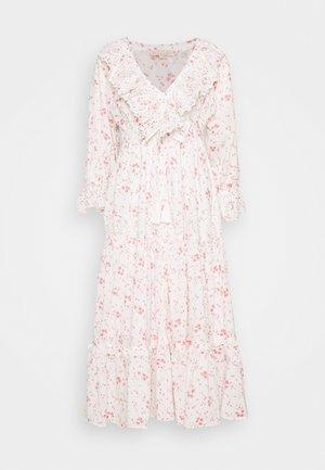 SLUB BUTTON DOWN DRESS - Day dress - pink