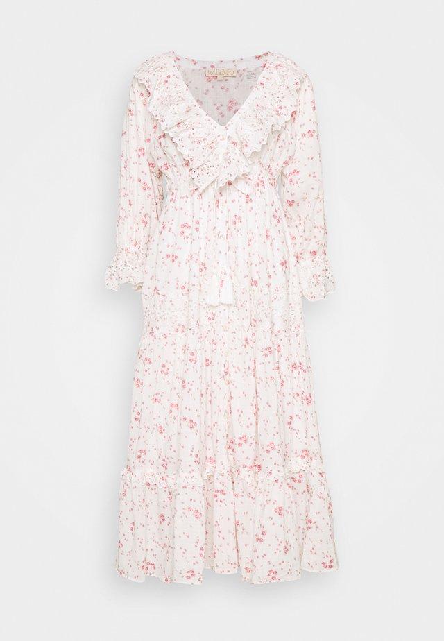 SLUB BUTTON DOWN DRESS - Vestito estivo - pink