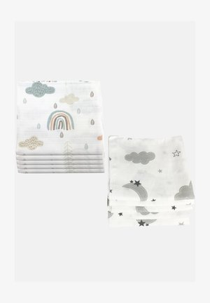 10 PACK  - Muslin blanket - wolken 5 grau, 5 grün