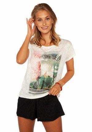 UMBRA  - Print T-shirt - off-white/grey