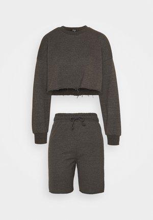 CROP CYCLING SET - Sweatshirt - dark grey