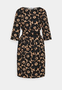 Marimekko - ILMAAN MINI UNIKKO DRESS - Shift dress - brown/black - 5
