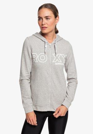 DOWN ON ME  - Zip-up sweatshirt - heritage heather