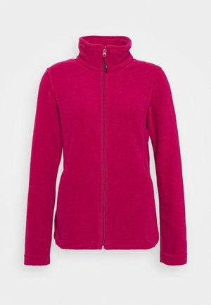 WOMAN JACKET - Fleece jacket - sangria