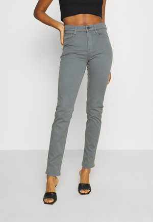 4311 MOTO HIGH STRAIGHT WMN - Straight leg jeans - grey