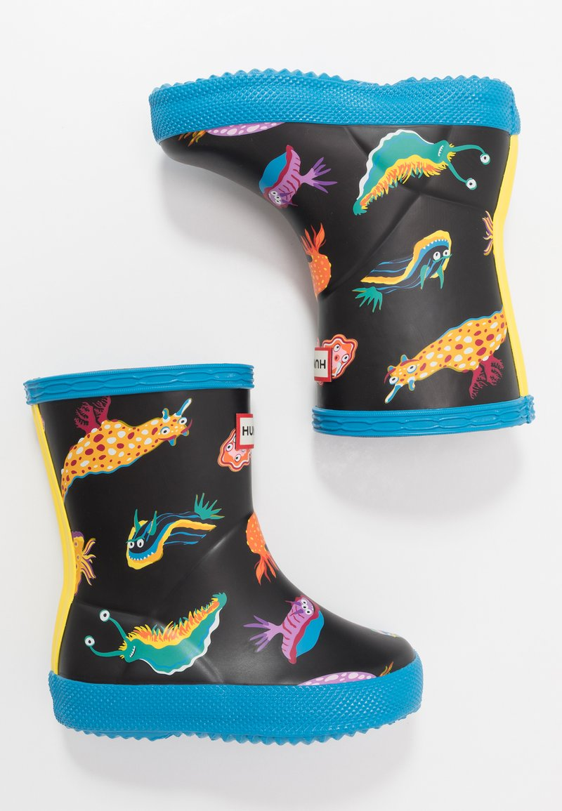 Hunter ORIGINAL - KIDS FIRST CLASSIC SEA MONSTER PRINT - Wellies - blue bottle