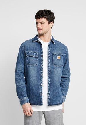 SALINAC MAITLAND - Overhemd - blue mid worn wash
